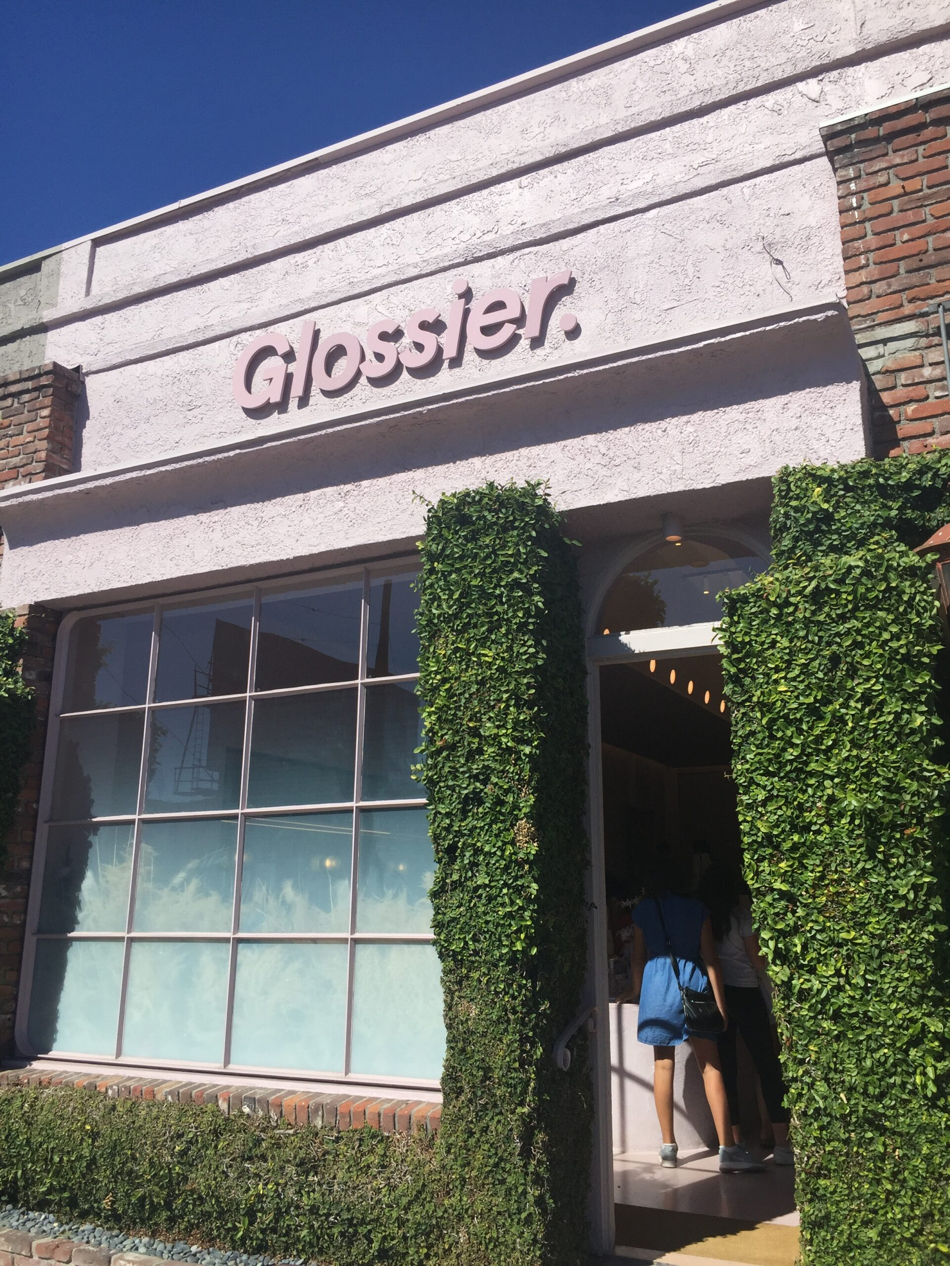 Glossier's Los Angeles Store on Melrose Place