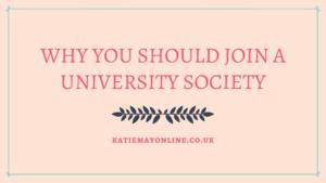 joining a society at uni